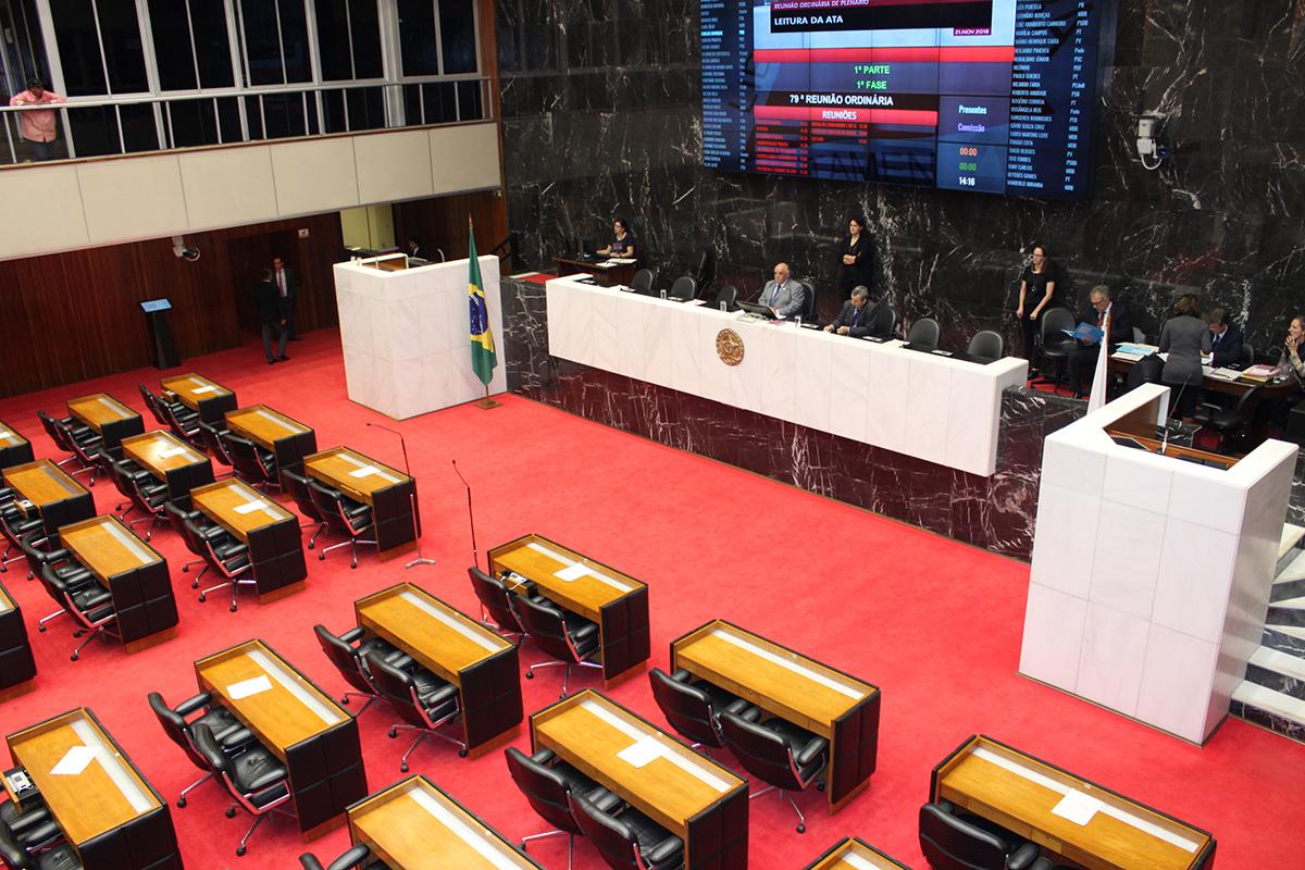A sessão foi encerrada por não conter número regimental de deputados para votar os projetos da pauta